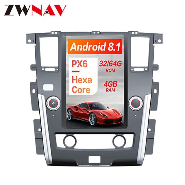 ZWNAV 13.6 inch Plus 1DIN 4GB 64GB Android 8.1 Tesla style Car DVD Player GPS Navigation Car multimedia Player For NISSAN PATROL 2010