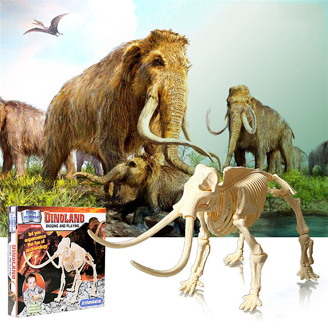 3D Puzzle Dinosaur Fossil Jurassic Dinosaur Elephant Animals Adorable Parent-Child Interaction Plastic Kid's Child's All Toy Gift