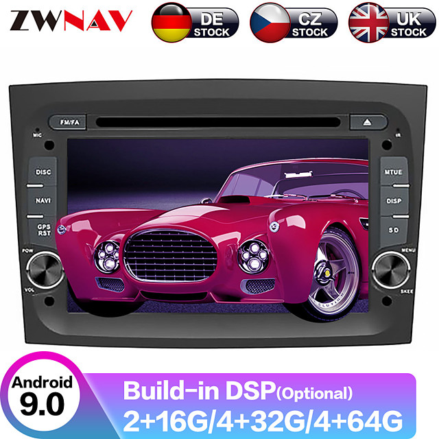ZWNAV 7inch 2din Android 9 Car DVD Player GPS Navigation Auto Stereo car Multimedia Player Pad radio tape recorder for FIAT DOBLO 2016