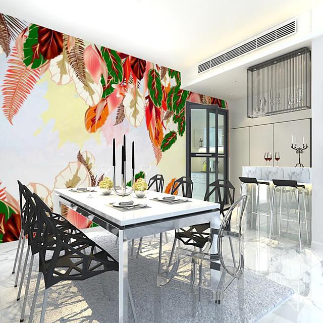 προσαρμοσμένο αυτοκόλλητο τοιχογραφία ταπετσαρία πολύχρωμα φύλλα κατάλληλα για υπνοδωμάτιο καθιστικό καφετέρια εστιατόριο τοίχο διακόσμηση art room wallcovering