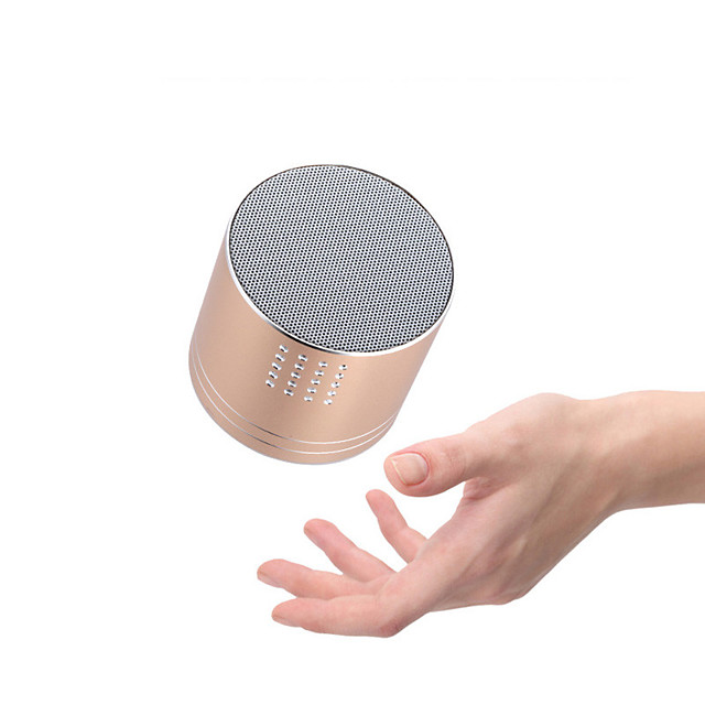 A03 Mini Wireless Bluetooth Speaker Matal Portable Gift Subwoofer for Support TF Card FM Radio Voice Prompts Handsfree Speaker