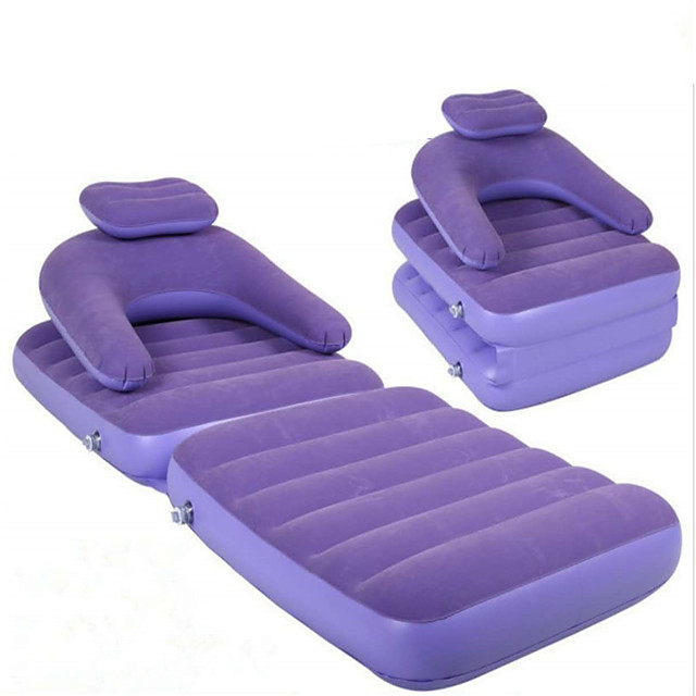 Air Sofa Air Bed Outdoor Camping Portable Soft Compact PVC (Polyvinylchlorid) 175*75*18 cm for 2 person Everyday Use Working All Seasons Purple