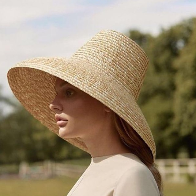Straw Hats with Rattan 1 Piece Casual / Outdoor Headpiece