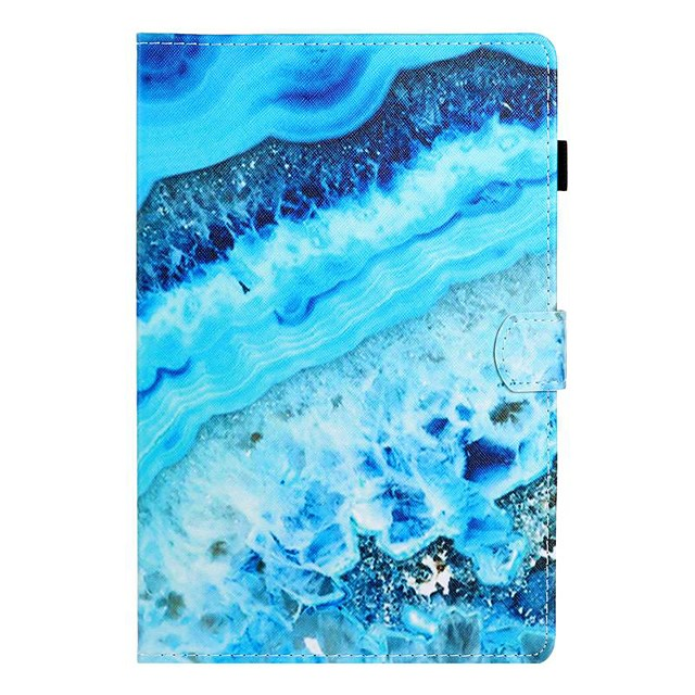 Case For Samsung Galaxy Tab A2 10.5(2018)/Tab A 10.1(2019)T510/Tab A 8.0(2019)T290/295 Card Holder / with Stand / Flip Full Body Cases Marble PU Leather For Galaxy T860/T720