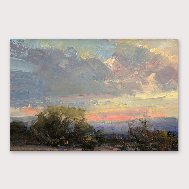 IARTS®Hand Painted Sunset glow Oil Painting   with Stretched Frame For Home Decoration