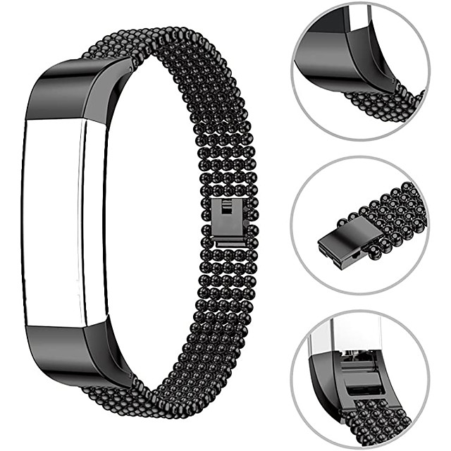 Watch Band for Fitbit Alta HR / Fitbit Alta Fitbit Jewelry Design Stainless Steel Wrist Strap