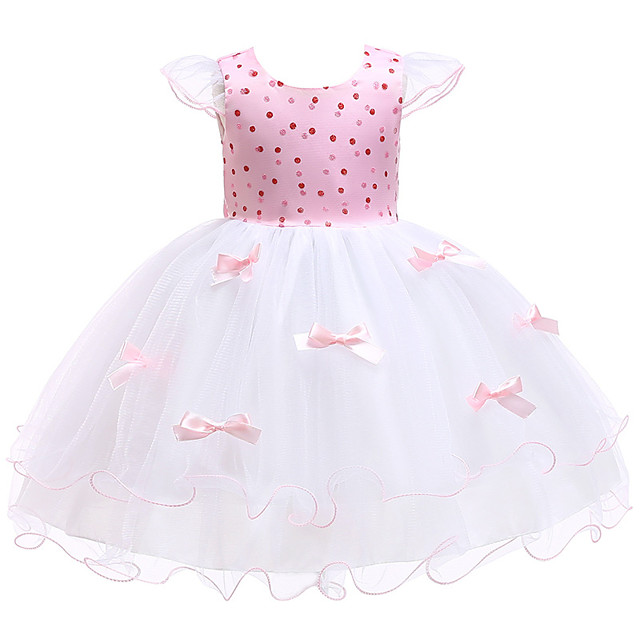 Princess Dress Flower Girl Dress Girls' Movie Cosplay A-Line Slip Cosplay Yellow / Pink Dress Halloween Carnival Masquerade Tulle Polyester