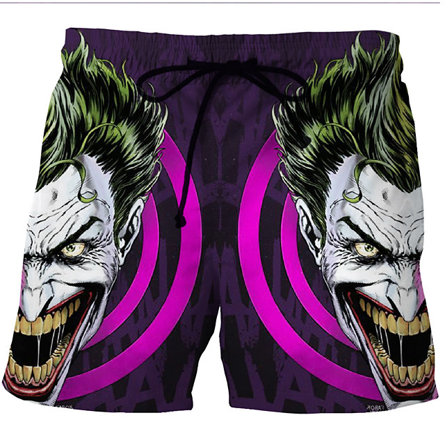 Men's Swim Shorts Swim Trunks Bottoms Breathable Quick Dry Swimming Beach Water Sports 3D Print Summer / Micro-elastic