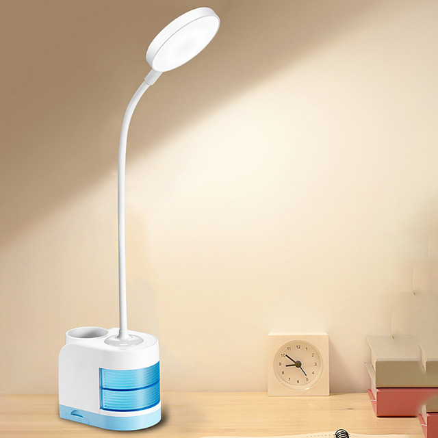 Desk Lamp Rechargeable / Eye Protection / Adjustable Modern Contemporary USB Powered For Bedroom / Study Room / Office DC 5V Blushing Pink / Blue