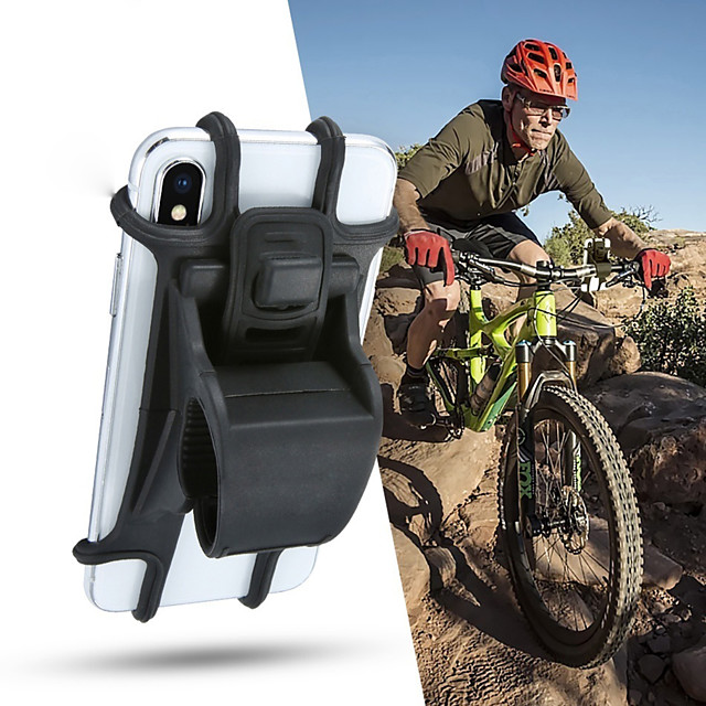 Silicone Bicycle Phone Holder Support For 4 - 6 inch Smartphone Holders Motorcycle Bike Handlebar Clip Stand GPS Mount Bracket4.7