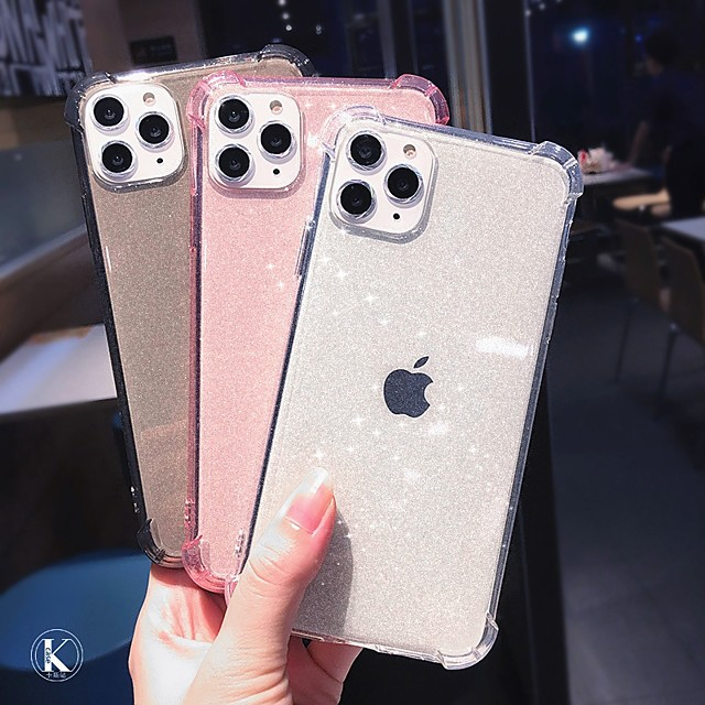 Case for Apple scene map iPhone 11 11 Pro 11 Pro Max X XS XR XS Max 8 Pure color glitter translucent TPU material four corners anti-fall all-inclusive mobile phone case HRS