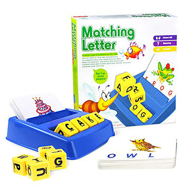 Matching Letter Game Picture Word Matching Game Educational Learning Games Educational Toy Letter Spelling Letter Reading Game Improve Memory Plastics Kids Preschool Kindergarten 3 years+