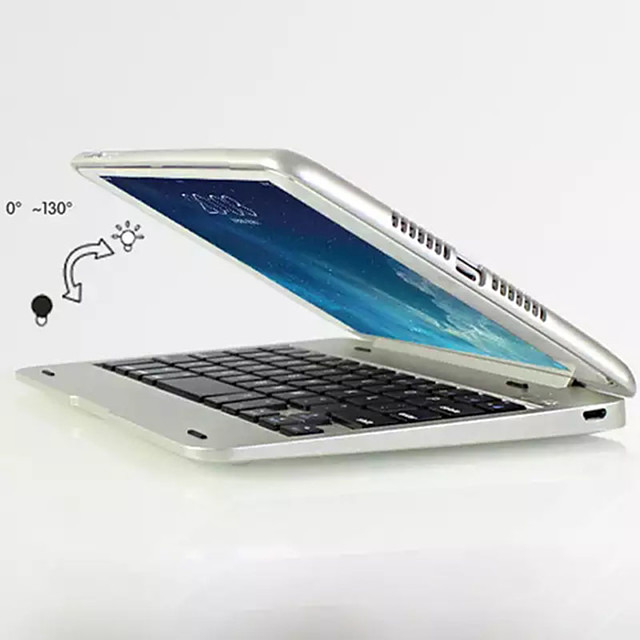 For iPad Mini 4 Bluetooth Keyboard Case Folio Smart Stand Case Shell Cover with Wireless Bluetooth Keyboard