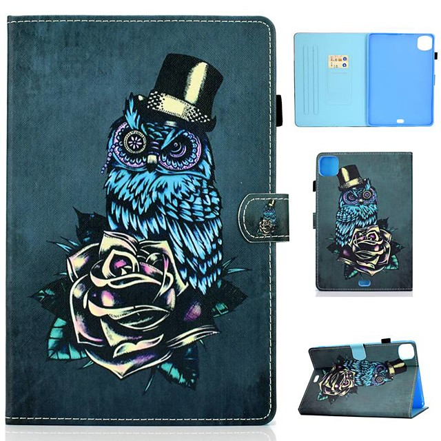 Case For Apple iPad Air/iPad Mini 3/2/1/4/5 Card Holder / Flip / Pattern Full Body Cases Animal PU Leather For iPad Air 10.5 2019/iPad 10.2/Pro 11 2020/iPad 2017/iPad 2018