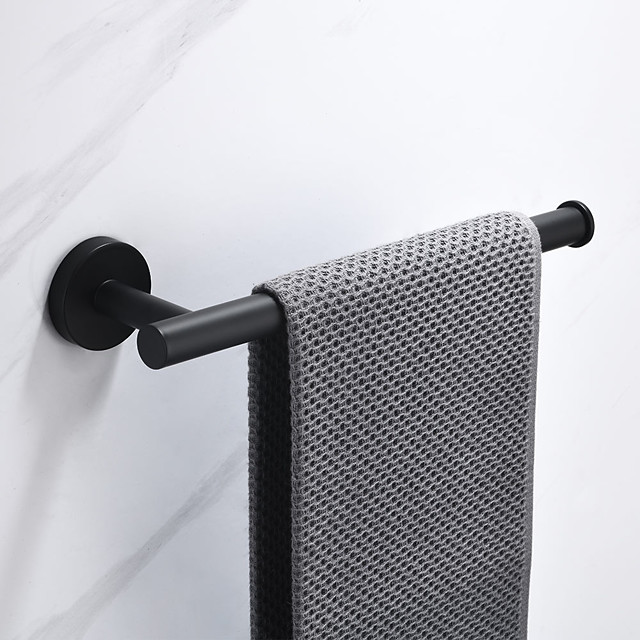 Towel Rail Rack Holder and Towel Rack with Hooks Bathroom Stainless Steel Wall-Mounted Accessories Tower Hanger Painted Finishes
