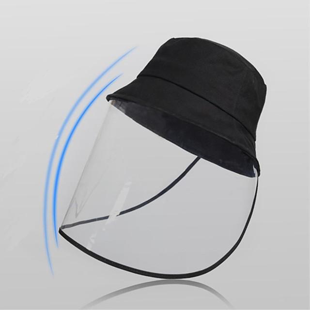 full ansiktsbeskyttelse anti-tåke spytt beskyttende lue solbeskyttelse sykkel gjennomsiktig uv-beskyttelse ansiktsblokkerende lue fiskerhatt