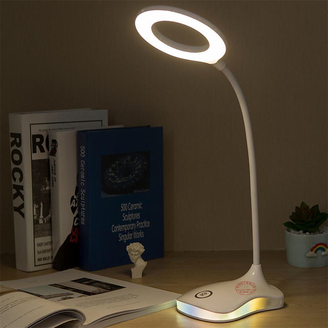 Rechargeable / Eye Protection / Adjustable USB Powered For Bedroom / Study Room / Office DC 5V White