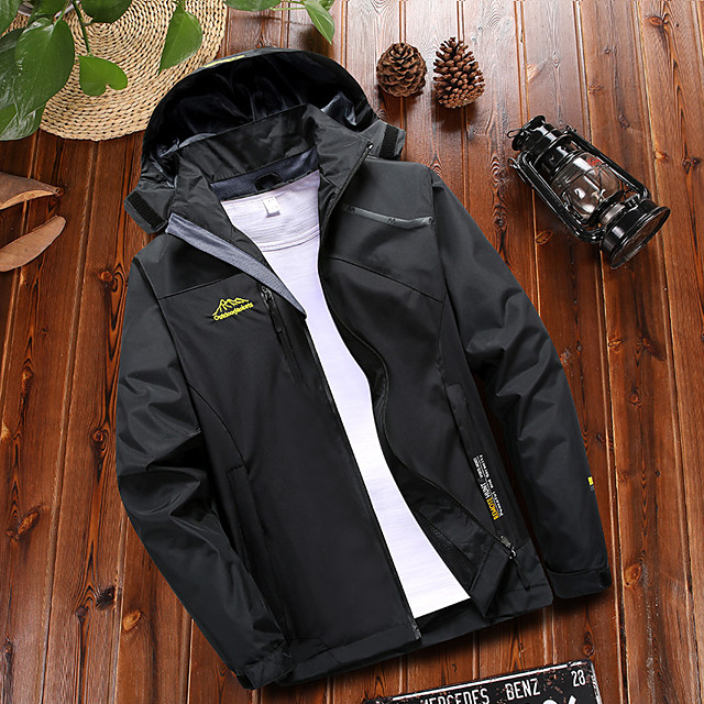 Wolfcavalry® Women's Hiking Jacket Summer Winter Outdoor Patchwork Waterproof Windproof Breathable Warm Jacket Top Single Slider Hunting Fishing Climbing Black / Fuchsia / Camping / Hiking / Caving