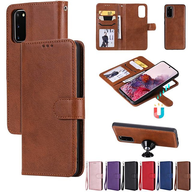 Case For Samsung Galaxy A50/Galaxy Note 10 / Galaxy Note 10 Plus Wallet / Card Holder / with Stand Full Body Cases Solid Colored PU Leather For Galaxy A10S/A20S/A10E/M30S/S20 Ultra/A51/A71