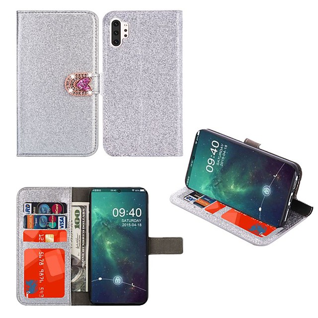 Case For Samsung Galaxy A51 A31 A71 Wallet / Card Holder / with Stand Full Body Cases Glitter Shine Heart PU Leather Case For Samsung A70E A41 A11 A21 A91 A81 A20e A10e A50s A30s A70s A20 M20 M10 A750