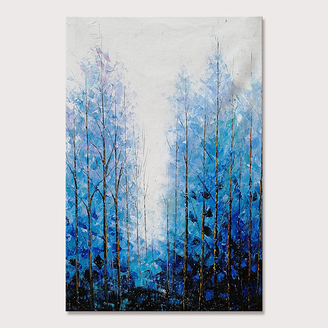 Mintura Large Size Hand Painted Knife Trees Landscape Oil Paintings on Canvas Modern Abstract Pop Art Wall Pictures For Home Decoration No Framed