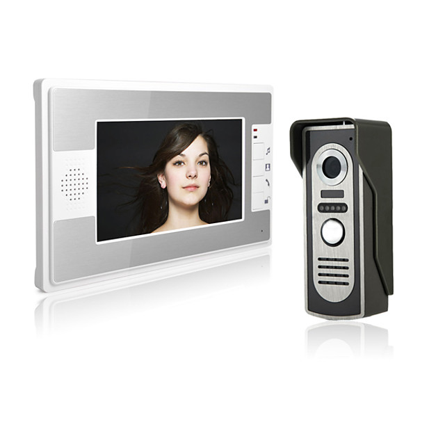 7 Inch Wire Video Door Phone Home Intercom System with Unlock Monitor Function P812M11