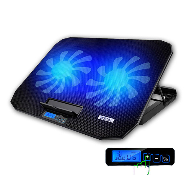 Gaming Laptop Cooler Adjustable Speed 1400RPM 2 USB Ports and 2 Cooling Fan Laptop Cooling Pad Notebook Stand for