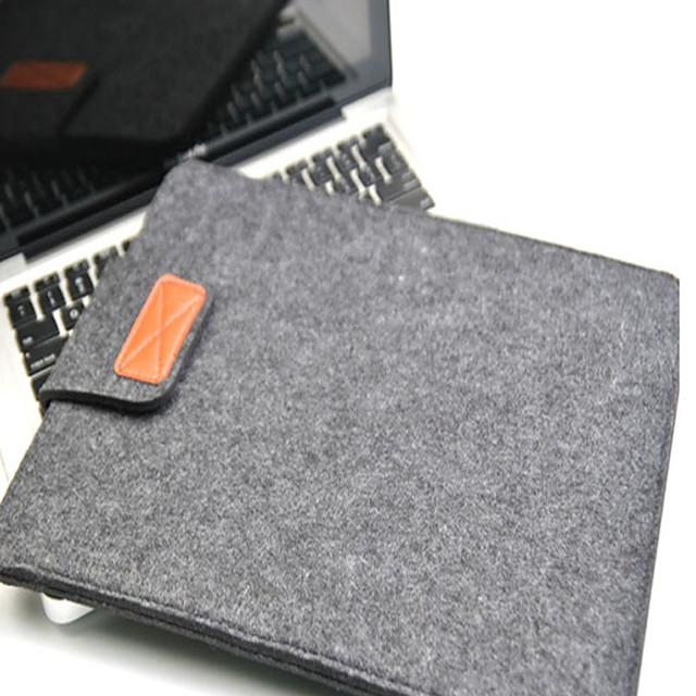 1Pc Felt Notebook Inner Case/Apple 11.6 13.3 15 Felt Velcro Bag
