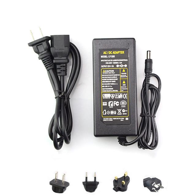 AC 100-240V To DC 12V 6A Transformer Switch EU/AU/UK/US Plug 72W 5.5*2.5mm Power Supply Adapter for LED Strip Flexible Lights