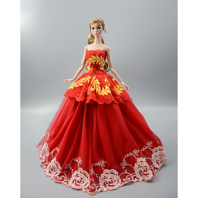Doll Clothes Costume Skirt Wedding Dress Plastic Fashion Toddler Girls' Toy Gift