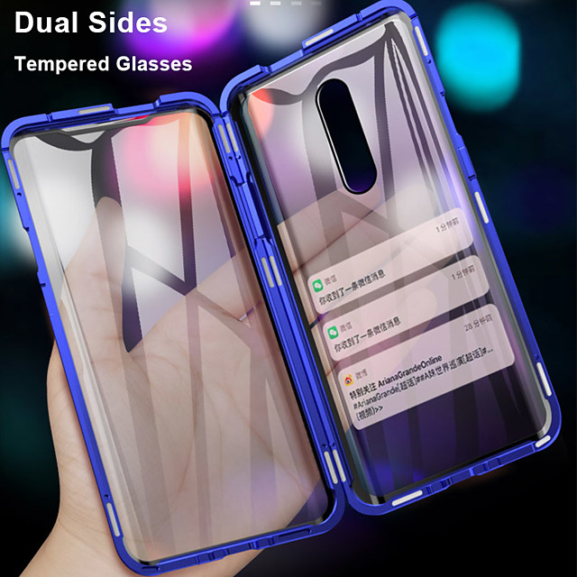 360 Double Side Magnetic Flip Tempered Glass Phone Case For OnePlus 7 Pro One Plus 6T One Plus 7T Pro OnePlus 6 Full Body Anti-Explosion Protective