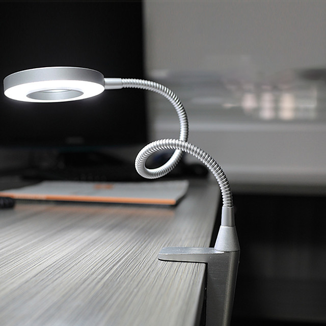 Desk Lamp Eye Protection / Adjustable Modern Contemporary LED power supply For Bedroom / Study Room / Office AC100-240V Silver