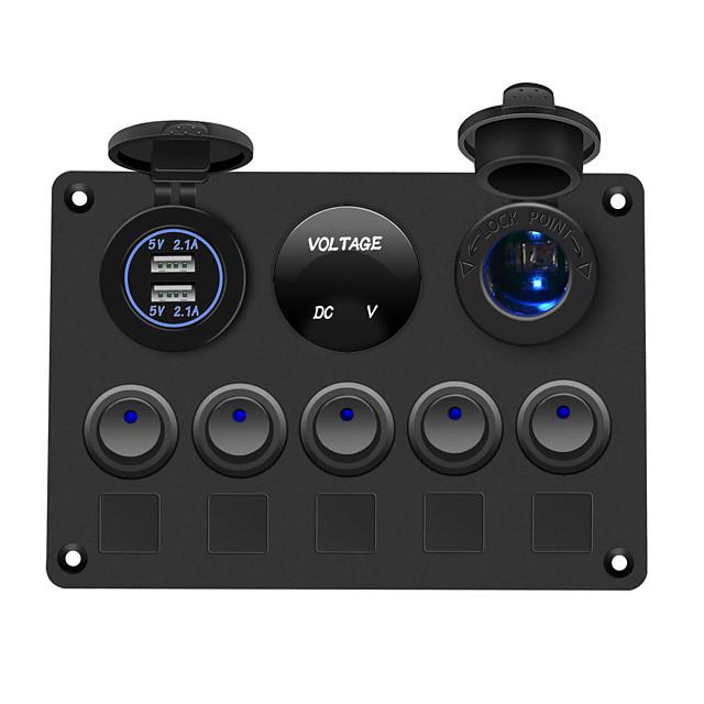 digitální voltmetr duální port USB 12v kombinace výstupů vodotěsný pro panel lodního spínače s ledem v automobilu
