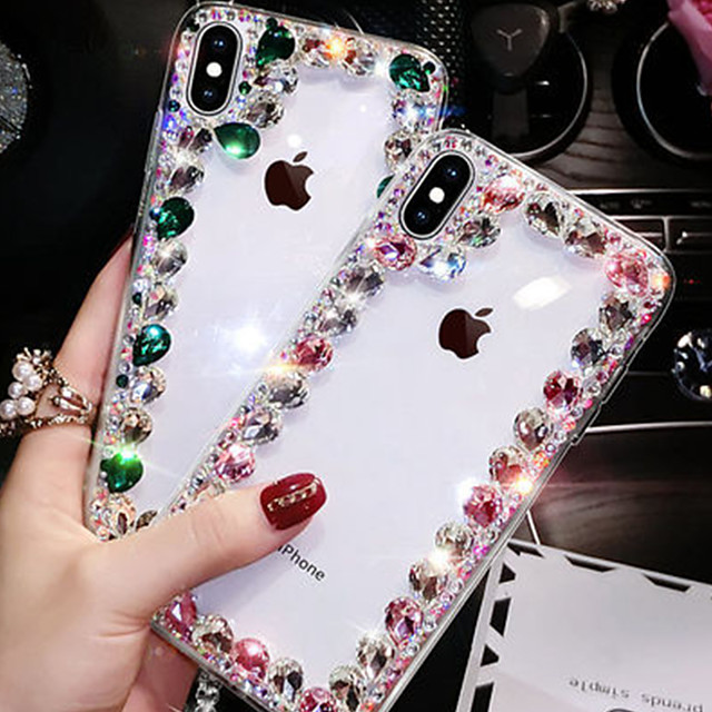 iPhone11Pro Max Luxury Artificial Crystal Diamond XS Max Women's Crystal Net Red Tide 6/7 / 8Plus Case