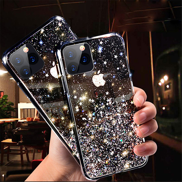 Phone Case For Apple Back Cover iPhone 11 iPhone 11 Pro iPhone 11 Pro Max Glitter Shine sky TPU
