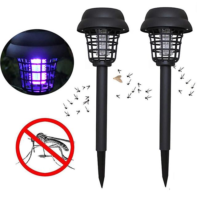 ZDM 2PCS Solar Bug Zappers Light Outdoor Solar Mosquito Repeller Light Pest Repeller for Walkway Garden Lawn Gardens Pathway Waterproof Mosquito Repeller Light Insect Repeller Lamp Insect Catcher