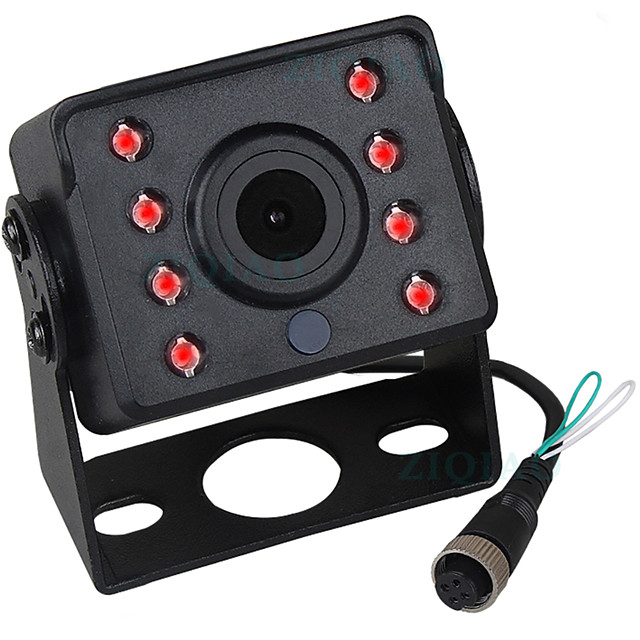 ZIQIAO 480TVL 720 x 480 CCD Wired 140 Degree Rear View Camera Waterproof / Plug and play / Night Vision for Bus / Truck