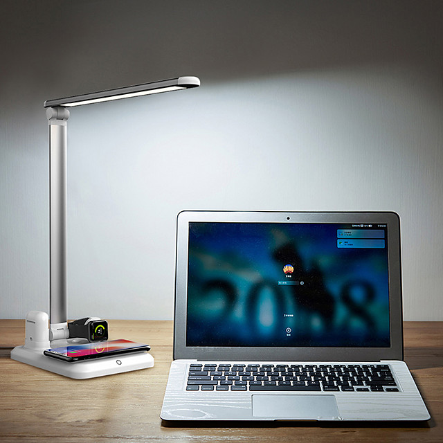 Desk Lamp Eye Protection / Mobile phone Wireless Charging Modern Contemporary DC Powered For Study Room / Office / Office DC 5V White / Black