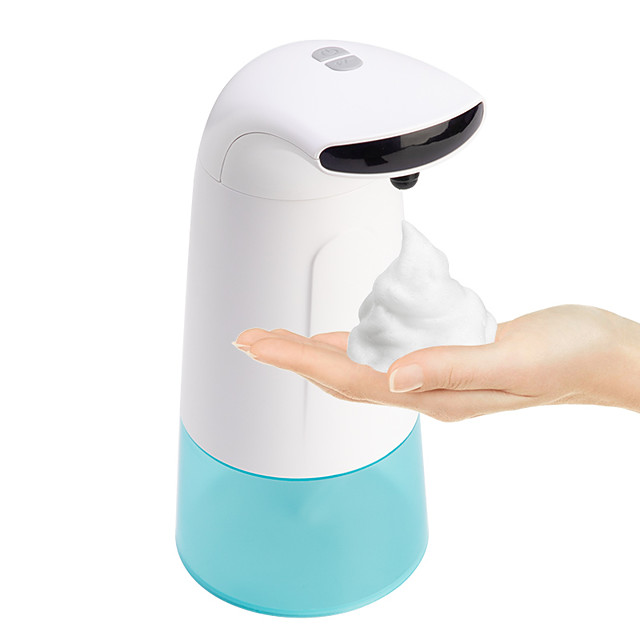 250ml Soap Dispenser Automatic Induction Free Pressing Infrared Sensing Intelligent Soap Dispenser for Kitchen Bathroom Batteries Not Included