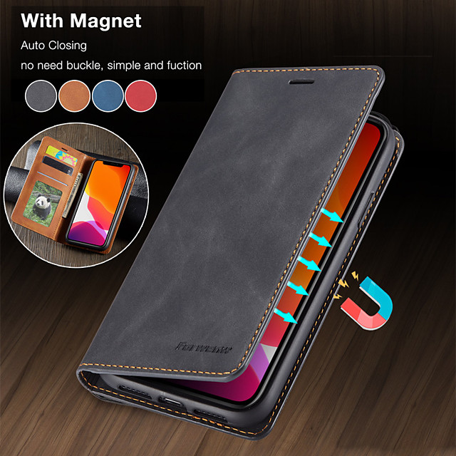 Luxury Magnetic Wallet Flip Leather Case For Apple iphone 12 11 Pro Max SE 2020 XR XS Max X 8 Plus 7 Plus 6 Plus Card Stand Cover