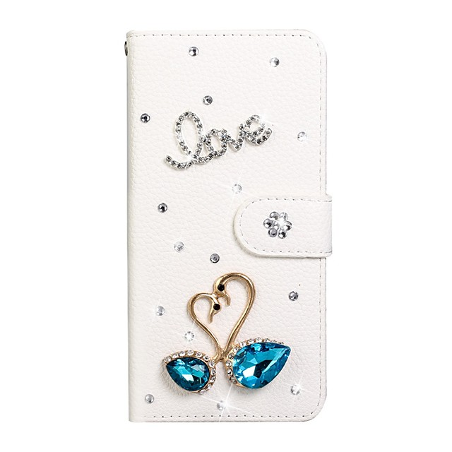 Case For Samsung Galaxy A6/A6 Plus/Galaxy A7(2018) Wallet / Card Holder / Rhinestone Full Body Cases Solid Colored PU Leather For Galaxy Note 10 Plus/S10E/S10/J4 Plus/J6 Plus/M10/M20/M30/S10 5G
