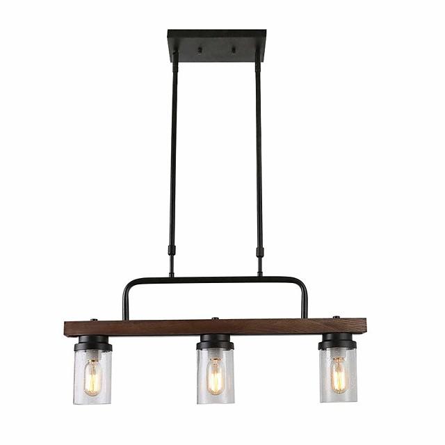 QINGMING® 3-Light 12 cm Island Design Pendant Light Metal Glass Mini Painted Finishes Vintage / Country 110-120V / 220-240V