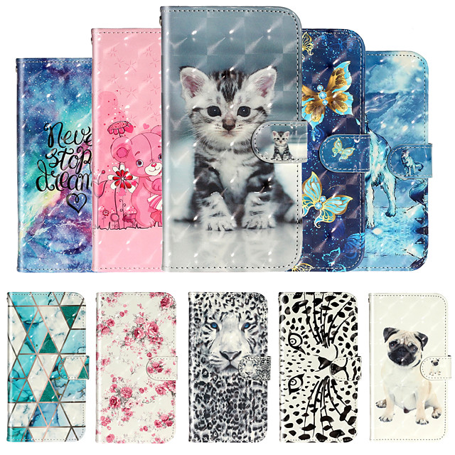 Case For Moto G7 Power G7 Play Phone Case PU Leather Material 3D Painting Phone Case for G7 P40 G8 Play G8 Plus