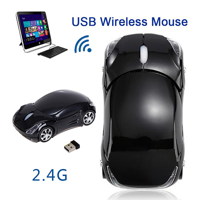 FL01 Wireless Game Mouse 2.4GHz 1600DPI Car Shape Wireless Optical Scroll Led Breathing Light Ergonomic Mice for Tablet Laptop Computer Mouses