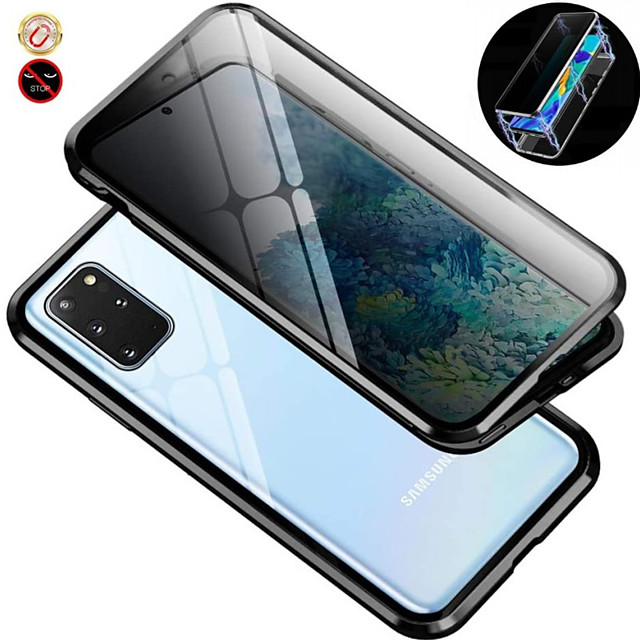 Magnetic Metal Case 9H Tempered Glass Front and Back Cover Magnetic Case For Samsung Galaxy S10 / S10plus 9H Tempered Glass Metal Frame Dsorption / Shock-Absorption / Case For Samsung Galaxy S9