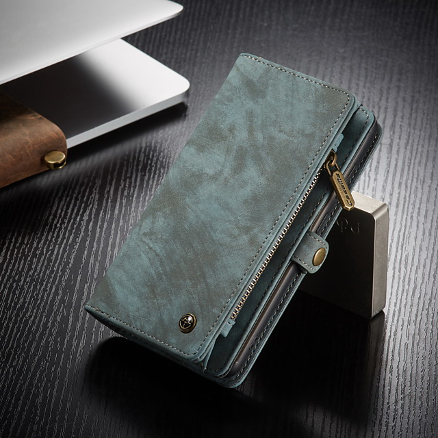 CaseMe Multifunctional Luxury Business Leather Magnetic Flip Case For Samsung Galaxy S20 / S20 Plus / S20 Ultra With Wallet Card Slot Stand 2-in-1 Detachable Case Cover