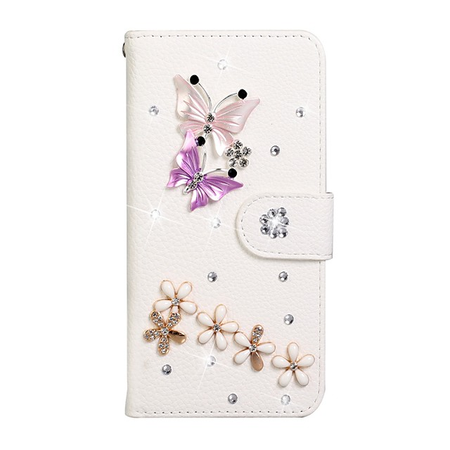 Case For Samsung Galaxy S9 / S9 Plus / S8 Plus Wallet / Card Holder / Rhinestone Full Body Cases Solid Colored PU Leather