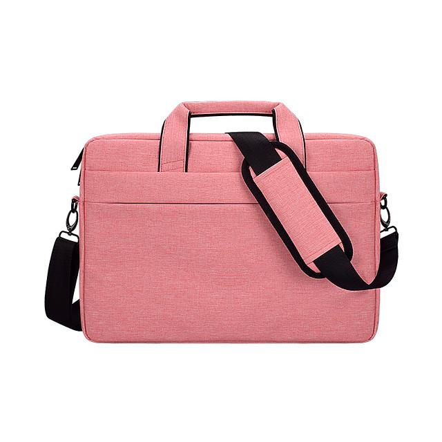 Unisex Oxford Cloth Laptop Bag Zipper Solid Color Daily Office & Career Handbags Dark Grey Black Pink Light Grey