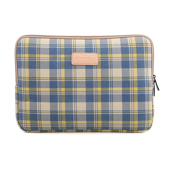 1Pc Fashionable Plaid Notebook Inner Bag/10 / 11 / 12 / 13 / 14 Inch 15 Inch Tablet Bag For Men And Women