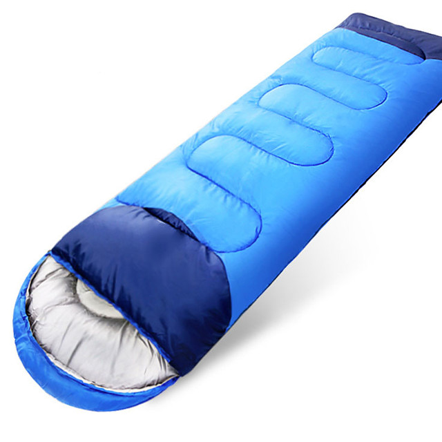 Sleeping Bag Outdoor Camping Envelope / Rectangular Bag for Adults 20 °C Single T / C Cotton Thermal Warm Portable Windproof Quick Dry Breathable Thick Skin Friendly 220*80 cm Autumn / Fall Winter